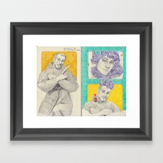 Drawing at the art institute of Chicago Framed Art Print
