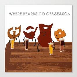 Where Beards Go Off-Season Canvas Print