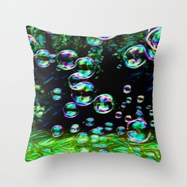 Dream Bubbles | Painting  Throw Pillow