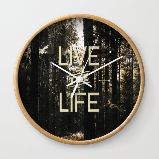 Live the Life Wall Clock