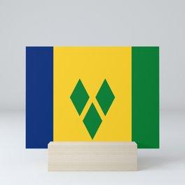 Flag of Saint Vincent and the Grenadines Mini Art Print
