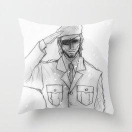 "Metal gear Solid ""Big Boss"" Throw Pillow"