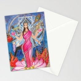 Tridevi, the three goddess Stationery Cards