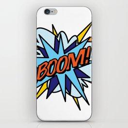 BOOM Comic Book Flash Pop Art Cool Fun Graphic Typography iPhone Skin