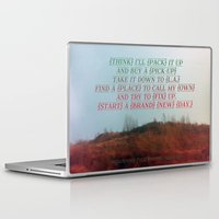 "neil gaiman Laptop & iPad Skins featuring ""Out On The Weekend"" by Neil Young by Melissa Martinez"
