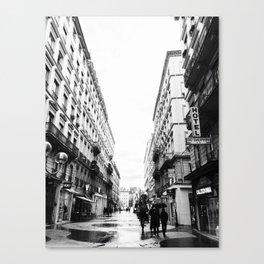 Rain in Lyon Canvas Print
