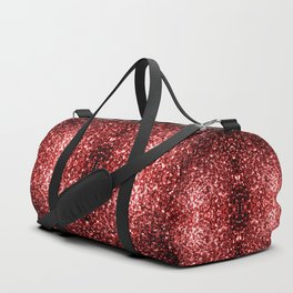 Beautiful Glamour Red Glitter sparkles Duffle Bag