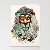the lion king Stationery Cards featuring Lion by Felicia Cirstea