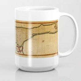 Map New York City and Manhattan Island (1807) Coffee Mug