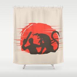 Ash vs Aliens Shower Curtain