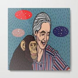 Jane Goodall Metal Print