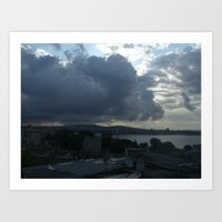 Istanbul Clouds Art Print