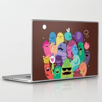 monsters Laptop & iPad Skins featuring Monsters by Maria Jose Da Luz