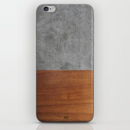 Concrete and Wood Luxury iPhone Skin