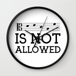 Decaf is not allowed (alto version) Wall Clock