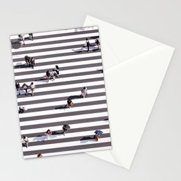 Pedestrians Stationery Cards