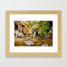 Small Falls in Corlieu Falls Framed Art Print
