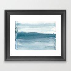 indigo shibori 04 Framed Art Print
