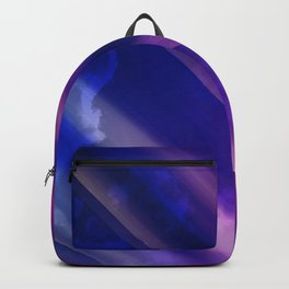 Vibrant Colorful Rays between Clouds 04 Backpack