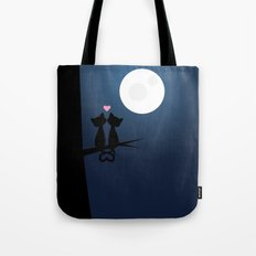 Cats Under The Moon Tote Bag
