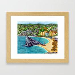 Colours of Monterosso Framed Art Print