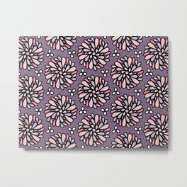 Pink and Purple Floral Metal Print