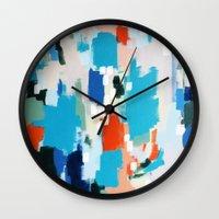 cape cod Wall Clocks featuring Cape Cod by kristinesarleyart