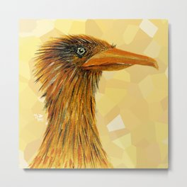 The Smug Crane Metal Print