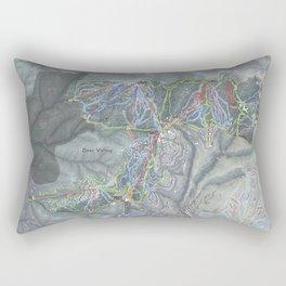 Deer Valley  Resort Trail Map Rectangular Pillow