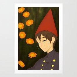 Marigolds & Wirt Art Print