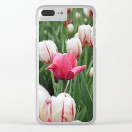 Pink among white Clear iPhone Case