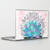 succulent Laptop & iPad Skins featuring succulent by Asja Boros