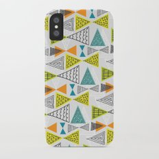 Geometric Mid Century Modern  Triangles iPhone X Slim Case