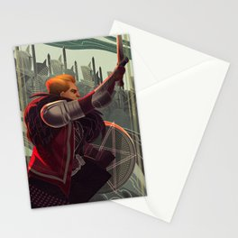 Knight of pentacles Stationery Cards
