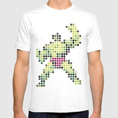 Mr Green 1 MEDIUM Mens Fitted Tee White