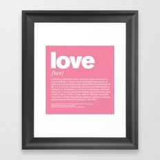 definition LLL - Love Framed Art Print