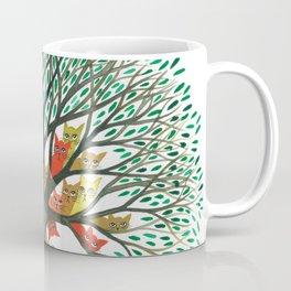 Nebraska Whimsical Cats in Tree Coffee Mug