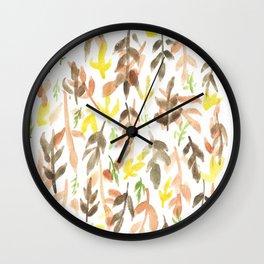 170814 Leaves Watercolour 4 Wall Clock