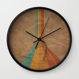Walking The Retro Way Wall Clock
