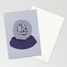 Look Deep Into The Parka Stationery Cards