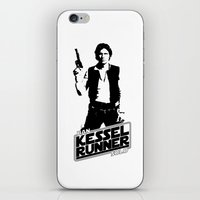 han solo iPhone & iPod Skins featuring Han Solo-Kessel Runner by IIIIHiveIIII