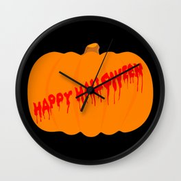 Totaly Evil Halloween Pumpkin Wall Clock