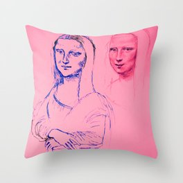 Mona Pink Throw Pillow