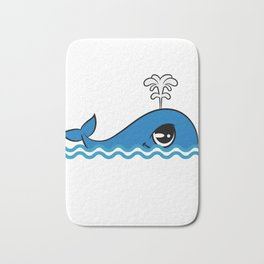"Cute and adorable ""Comic Whale"" tee design for you and your friends! Give the best tee this holiday! Bath Mat"