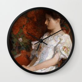 Childe Hassam - The Victorian Chair Wall Clock