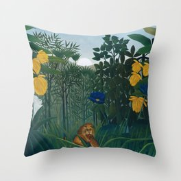 The Repast of the Lion Throw Pillow
