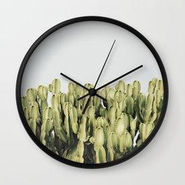 """Cactus And Sky"". Vintage II Wall Clock"