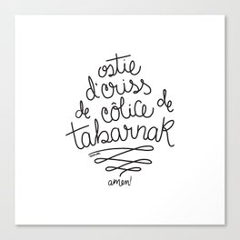 Sacres Québec - Black Canvas Print