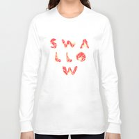 swallow Long Sleeve T-shirts featuring SWALLOW by mcmadmissile