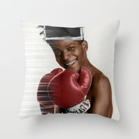 basquiat Throw Pillows featuring Basquiat * by zombielombii